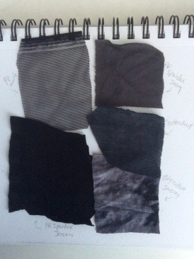 dance fabric swatches